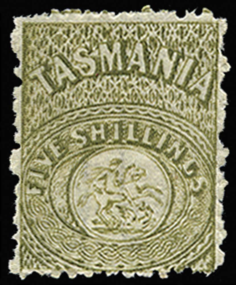 TASMANIA 1863  SGF15 Postal Fiscal