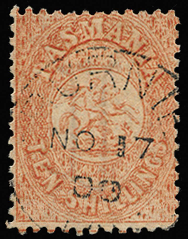 TASMANIA 1863  SGF17 Postal Fiscal
