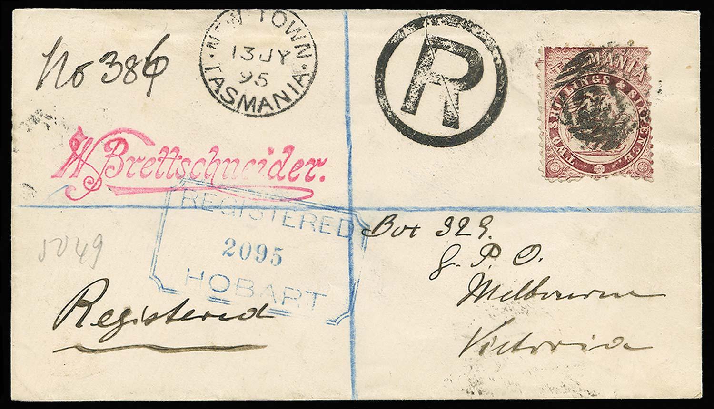 TASMANIA 1895  SGF30 Cover
