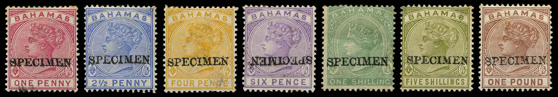 BAHAMAS 1884  SG44, 49/57 Specimen