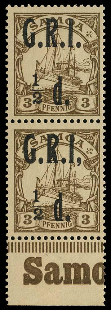 SAMOA 1914  SG101/c Mint