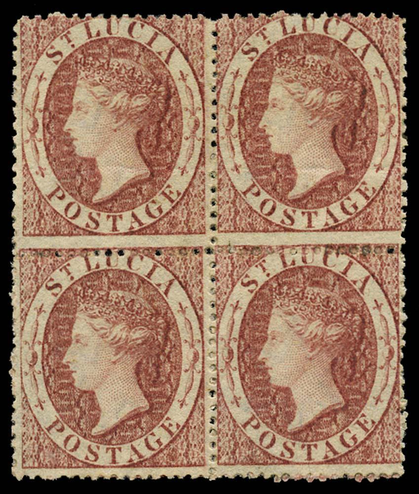 ST LUCIA 1860  SG1 Mint