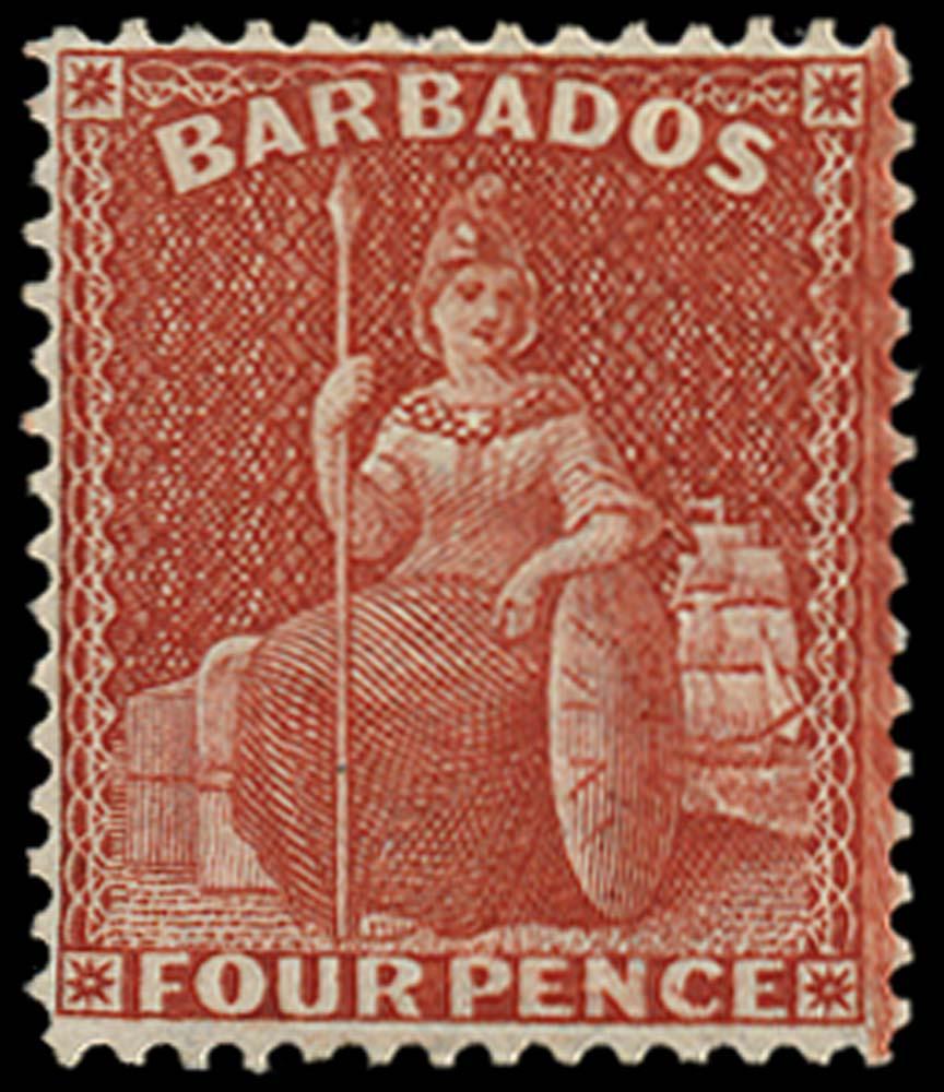 BARBADOS 1875  SG76 Mint