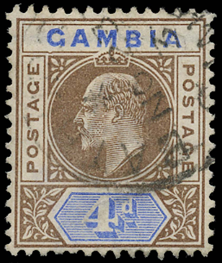 GAMBIA 1902  SG50a Used