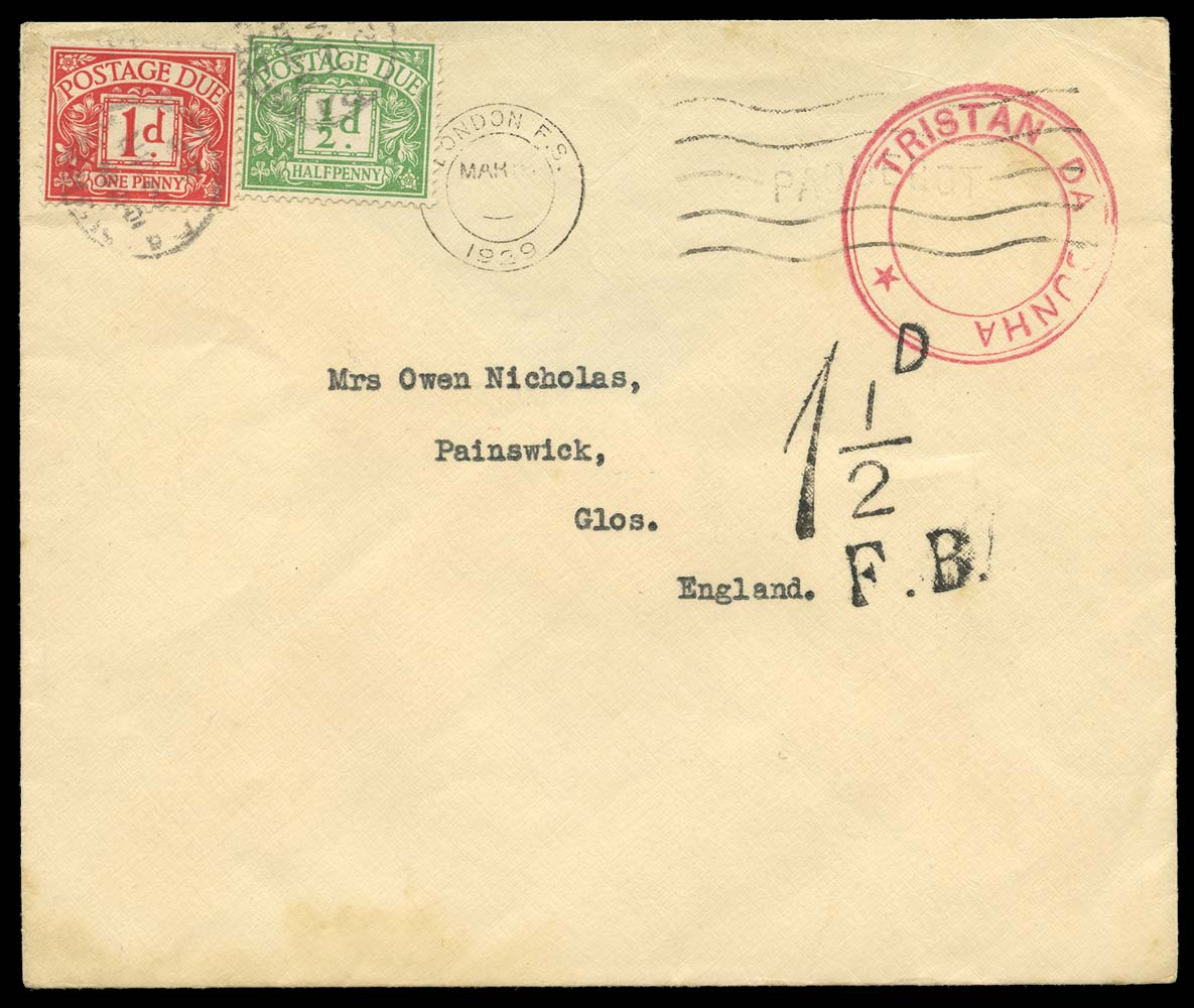 TRISTAN DA CUNHA 1929  SGC4 Cover