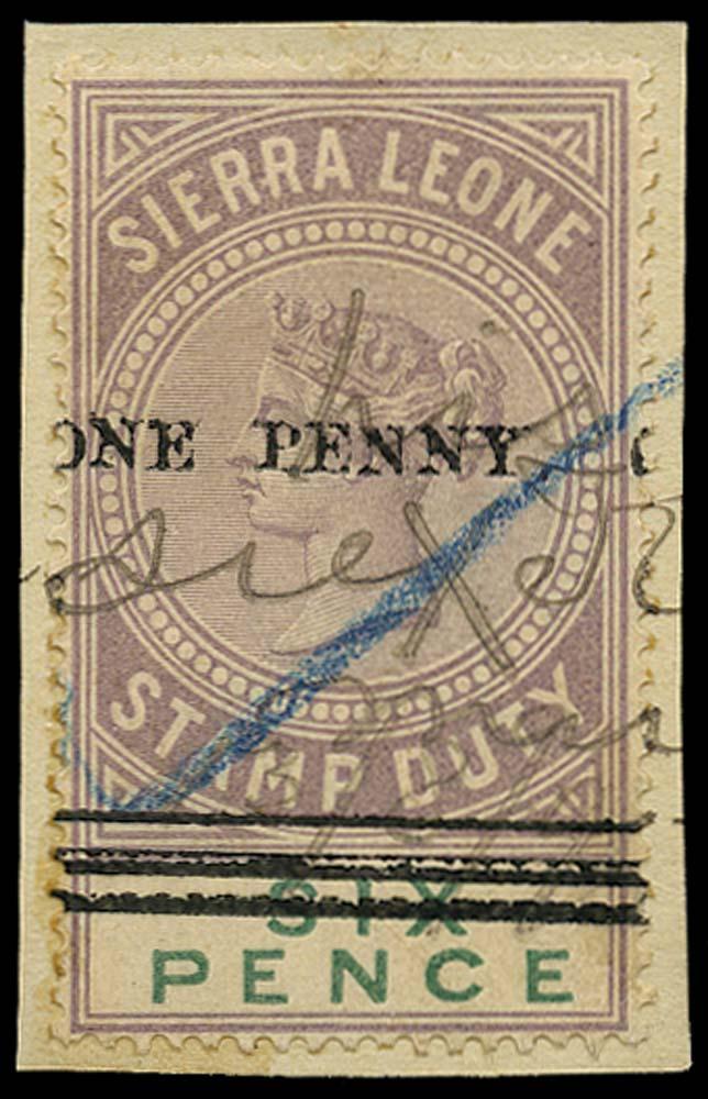 SIERRA LEONE 1894 Revenue