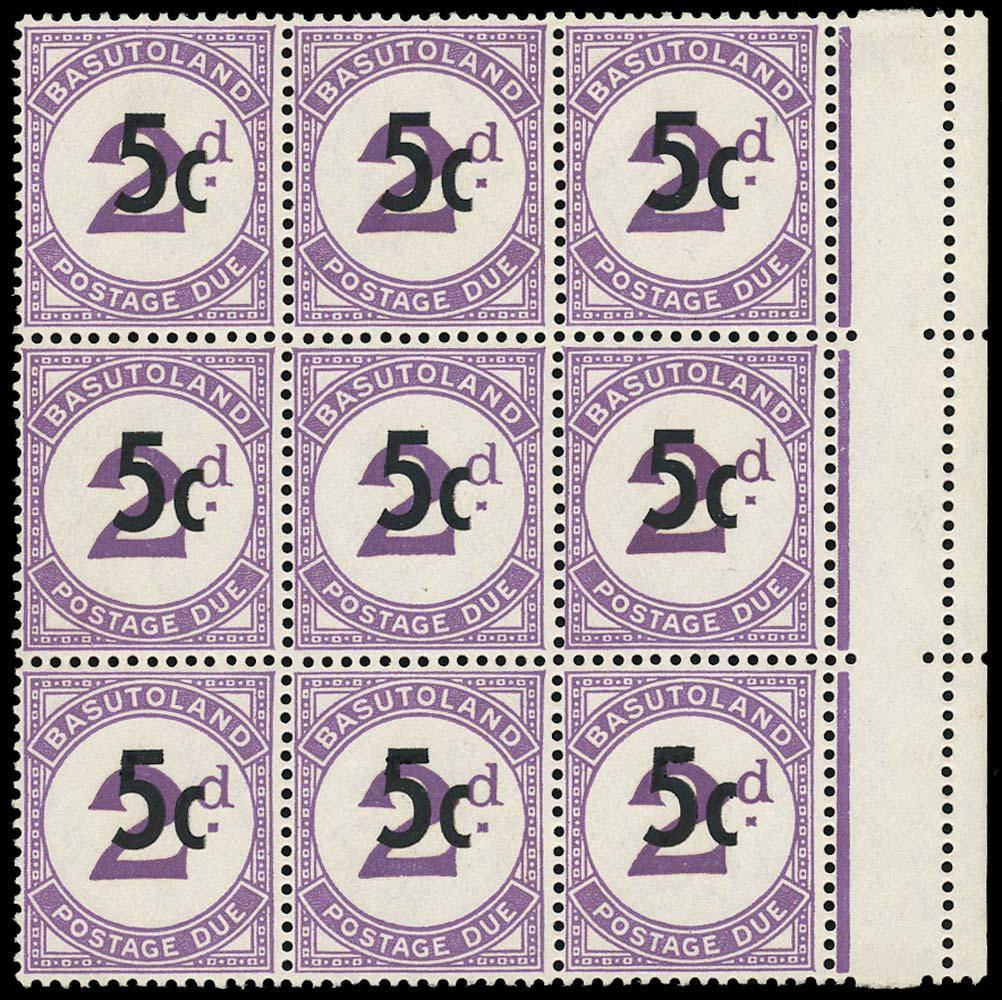 BASUTOLAND 1961  SGD8/b Postage Due