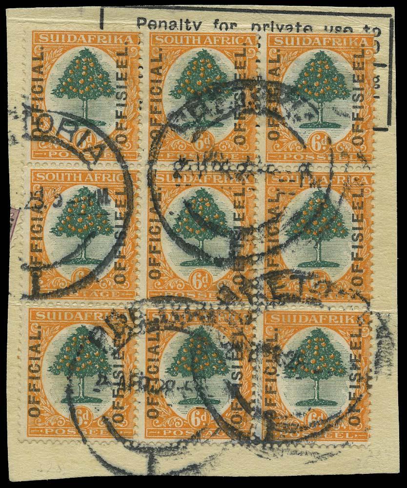 SOUTH AFRICA 1926  SGO4var Official