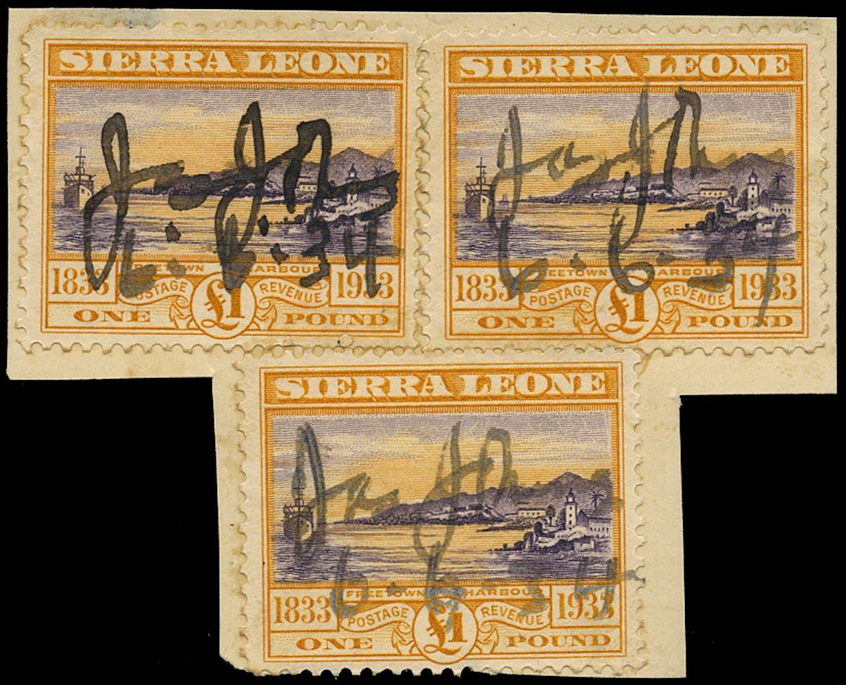SIERRA LEONE 1933  SG180 Used