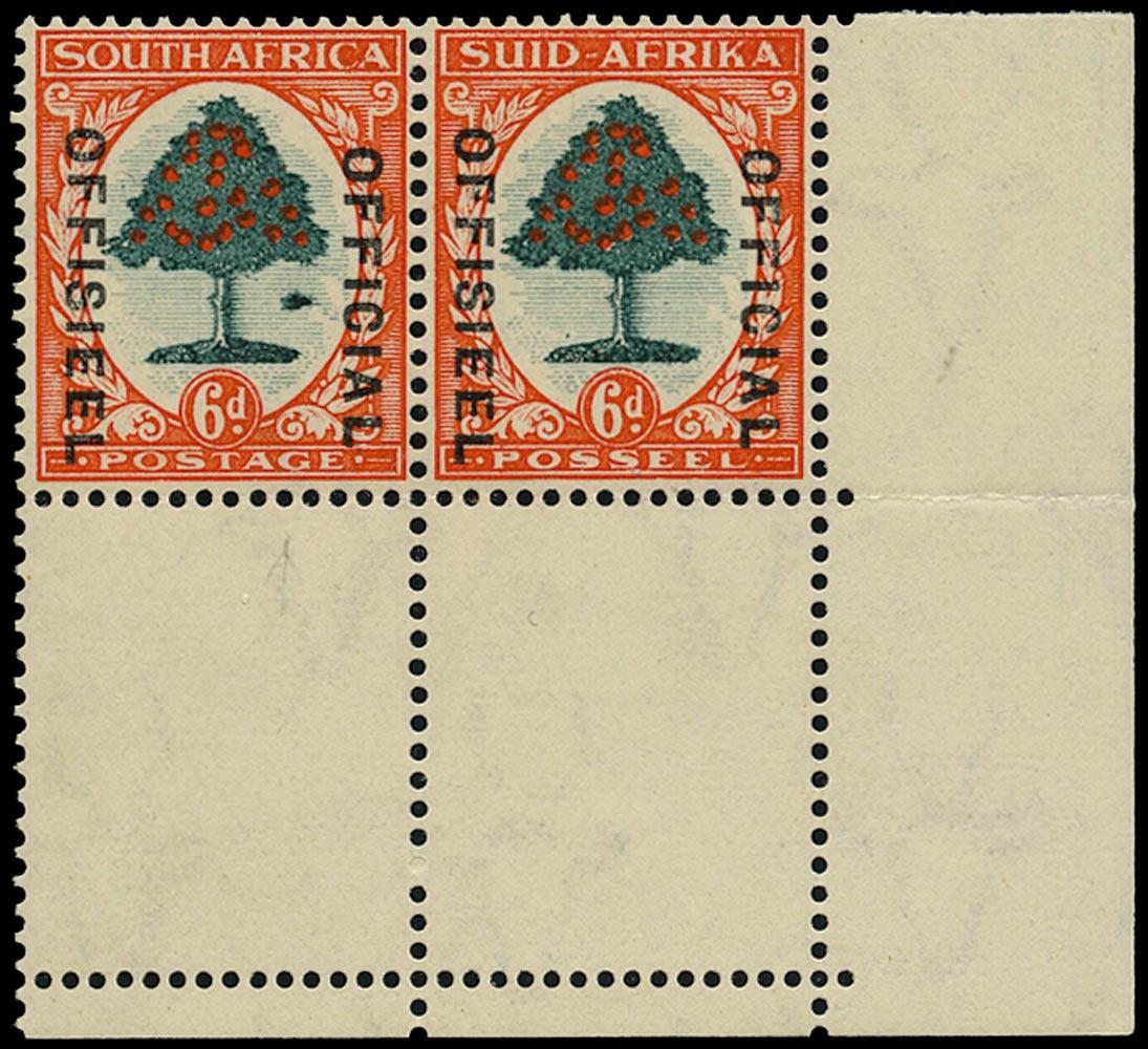SOUTH AFRICA 1935  SGO24b Official