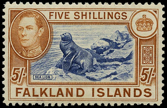 FALKLAND ISLANDS 1938  SG161b Mint