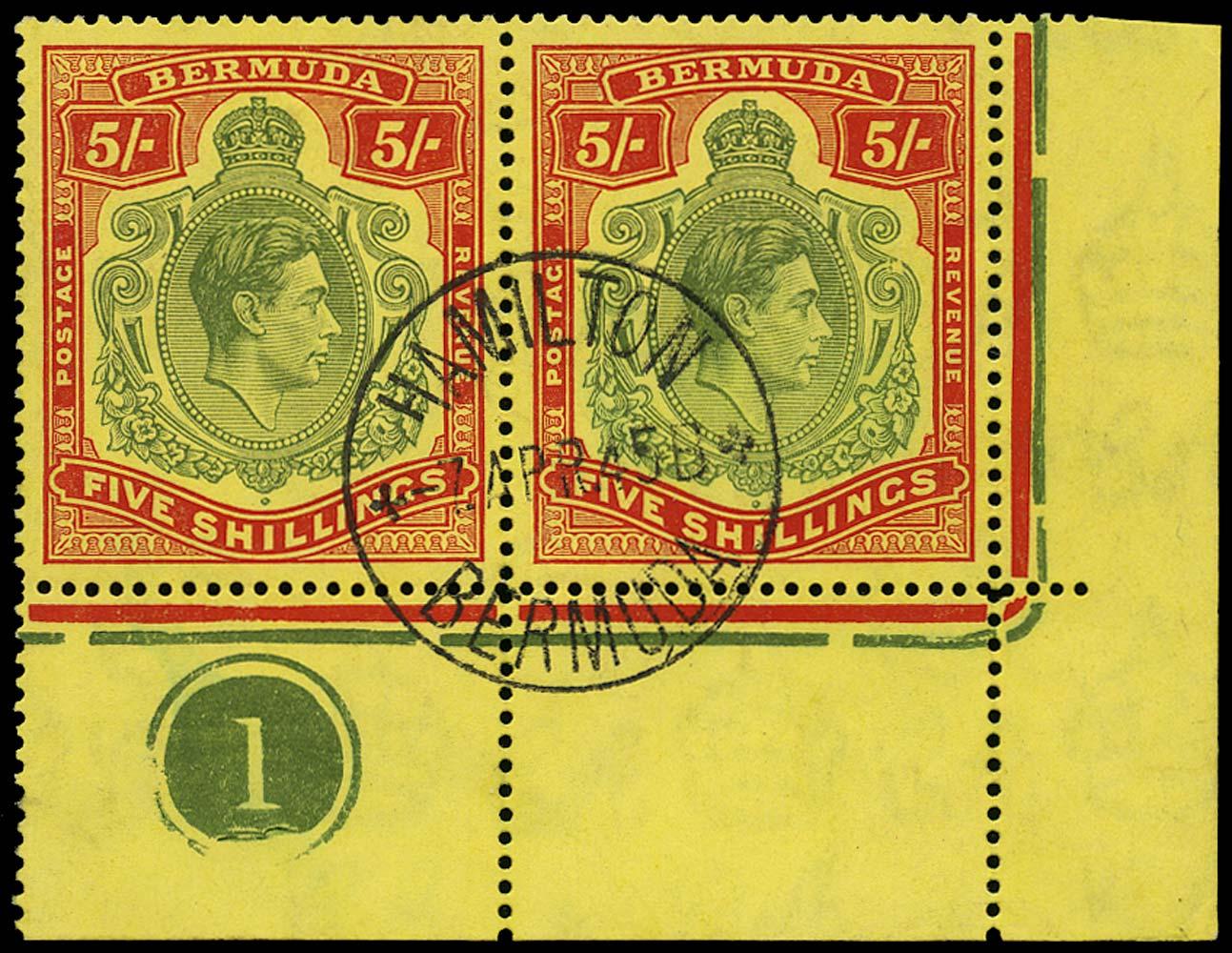 BERMUDA 1941  SG118bd/e Used