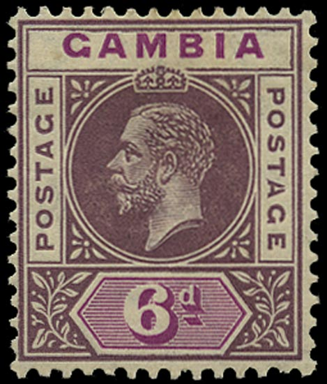 GAMBIA 1912  SG94a Mint