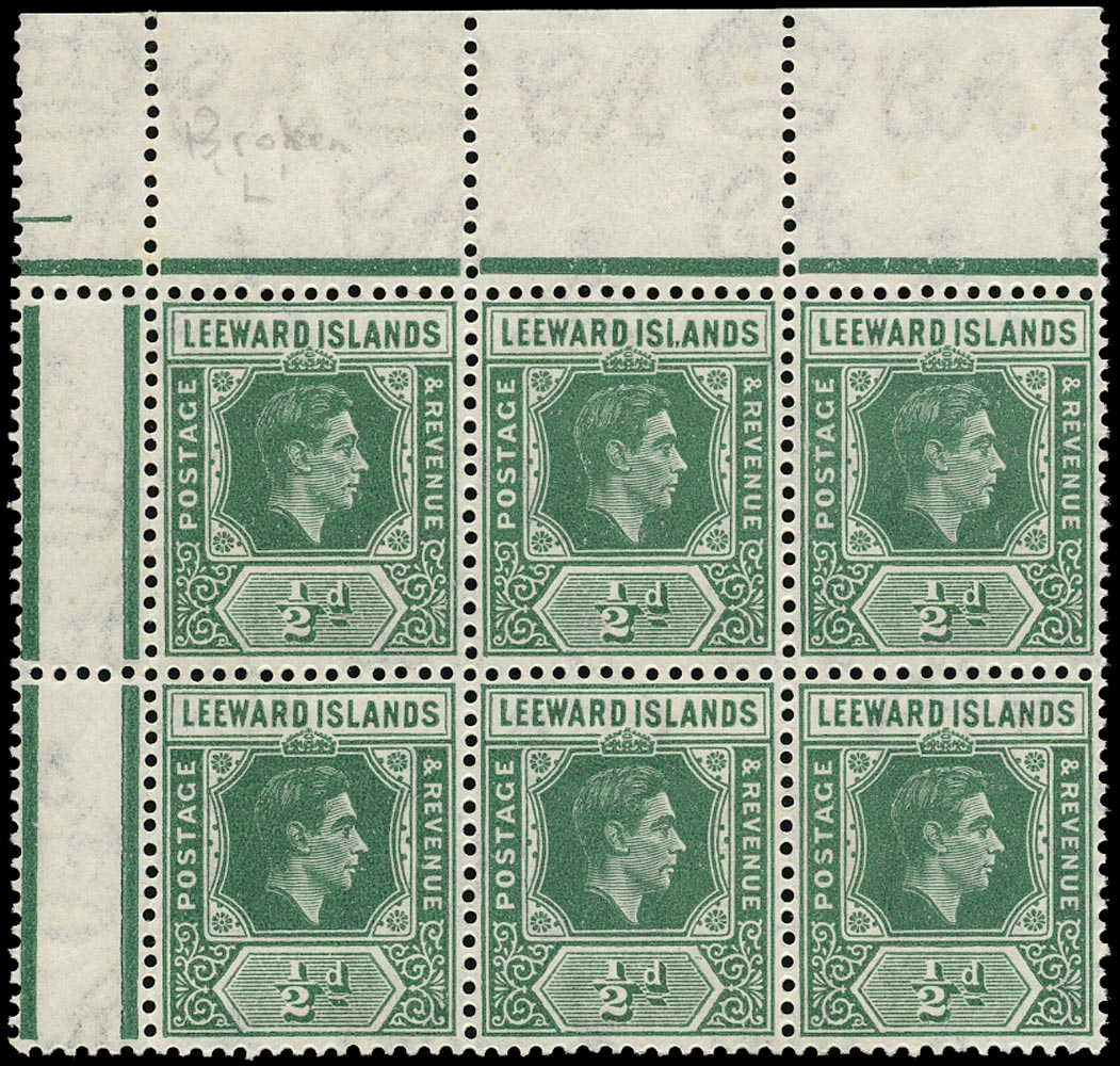 LEEWARD ISLANDS 1942-9  SG96a Mint