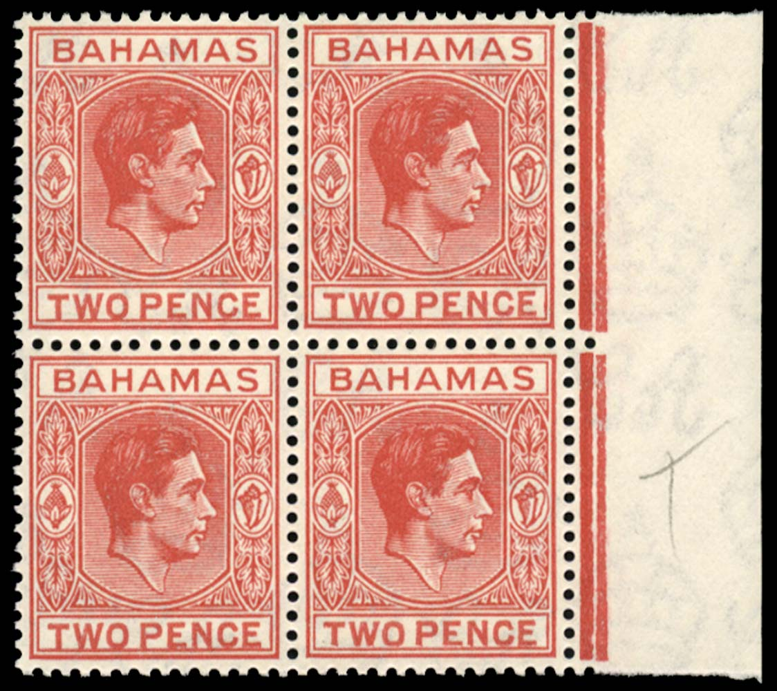 BAHAMAS 1941  SG152ba Mint