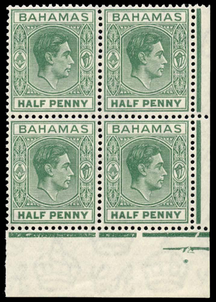 BAHAMAS 1938-52  SG149a Mint