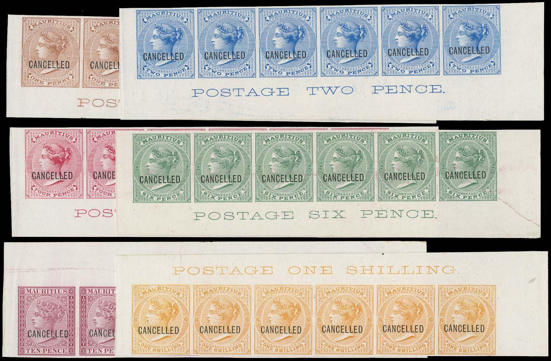 MAURITIUS 1872  SG58/70 Proof