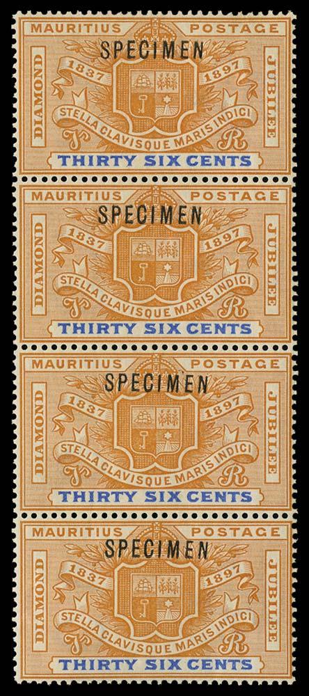 MAURITIUS 1898  SG133s Specimen
