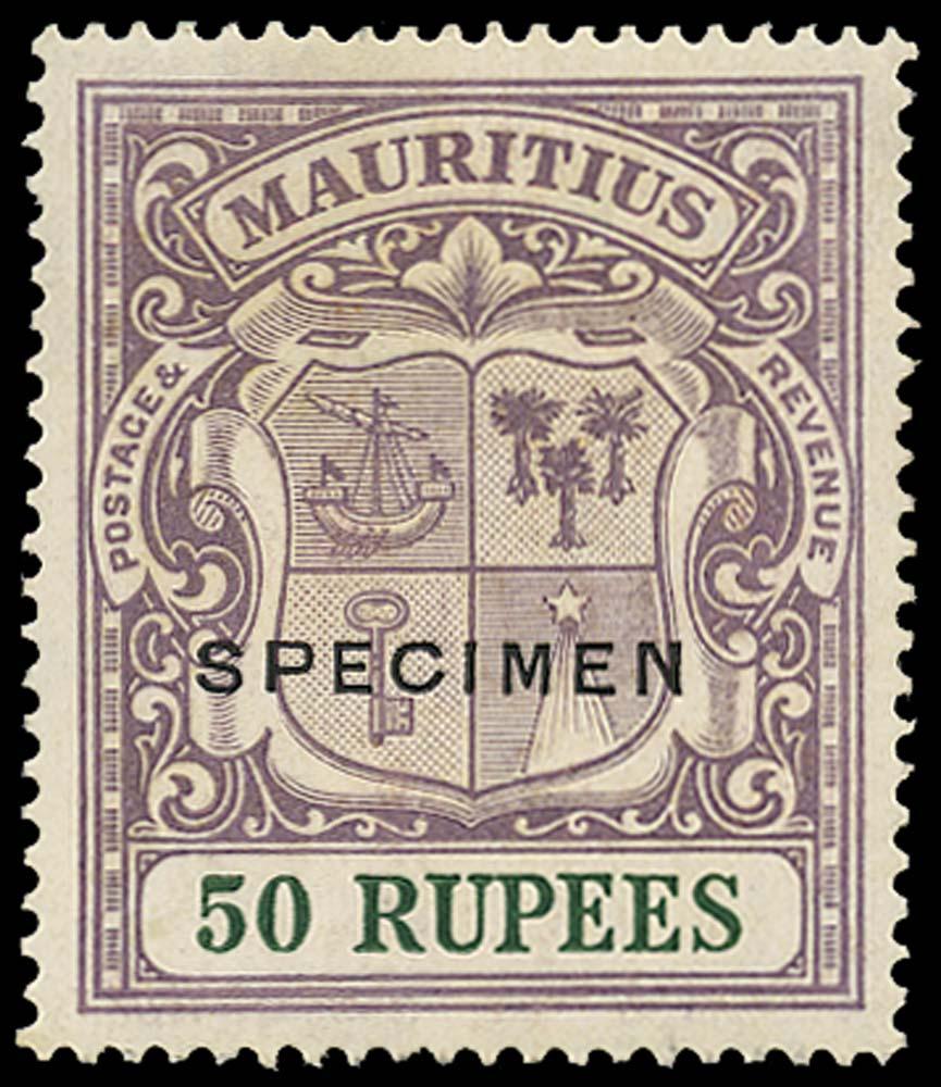 MAURITIUS 1921  SG222s Specimen