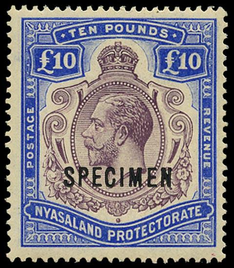 NYASALAND 1913  SG99s Specimen