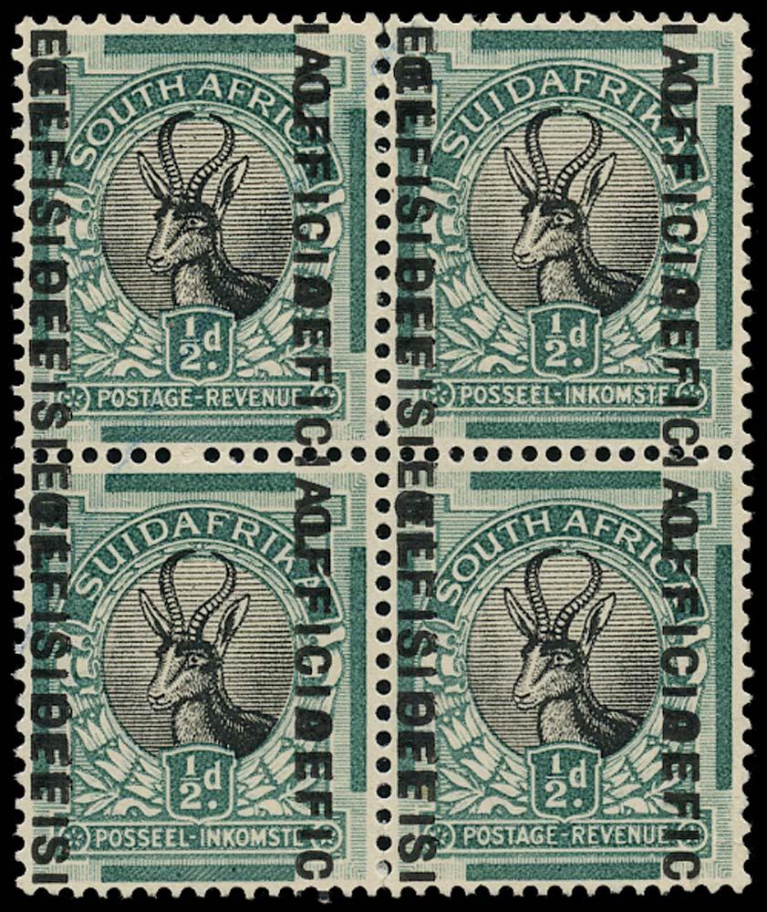 SOUTH AFRICA 1930  SGO12e Official