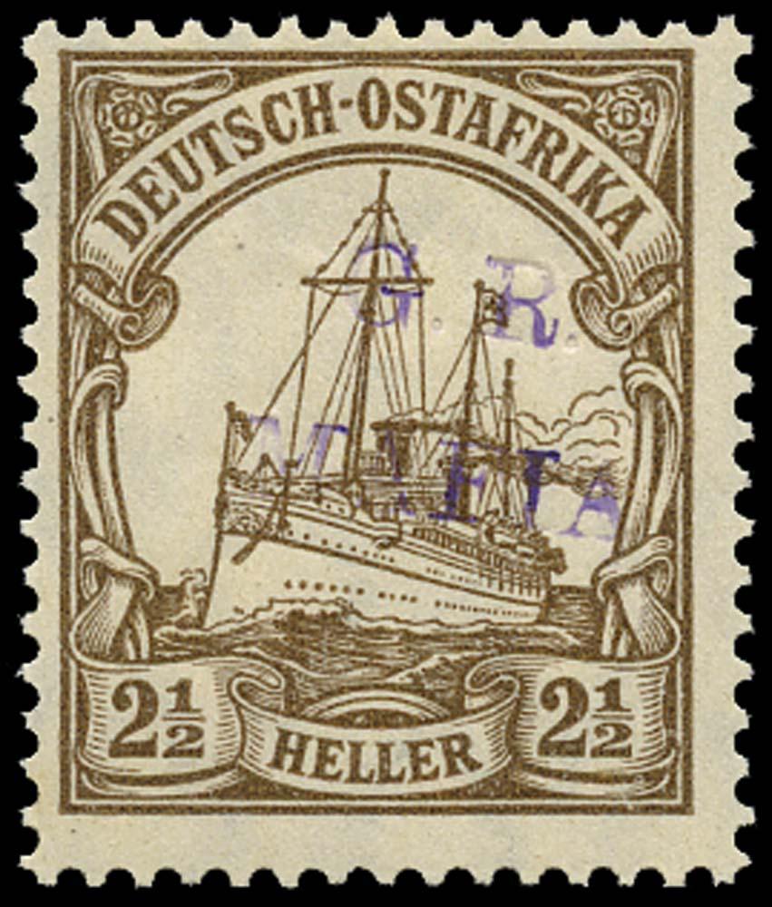 TANGANYIKA 1915  SGM1C Mint