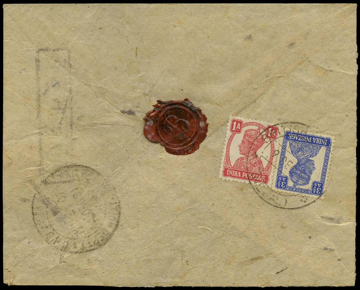 INDIA USED ABROAD 1949 Cover from British Legation Nepal