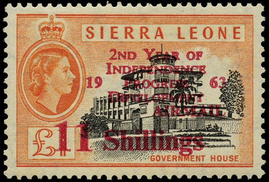 SIERRA LEONE 1963  SG269 Mint Independence 11s on £1 unmounted