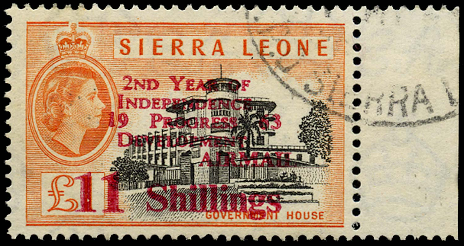 SIERRA LEONE 1963  SG269 Used Independence 11s on £1