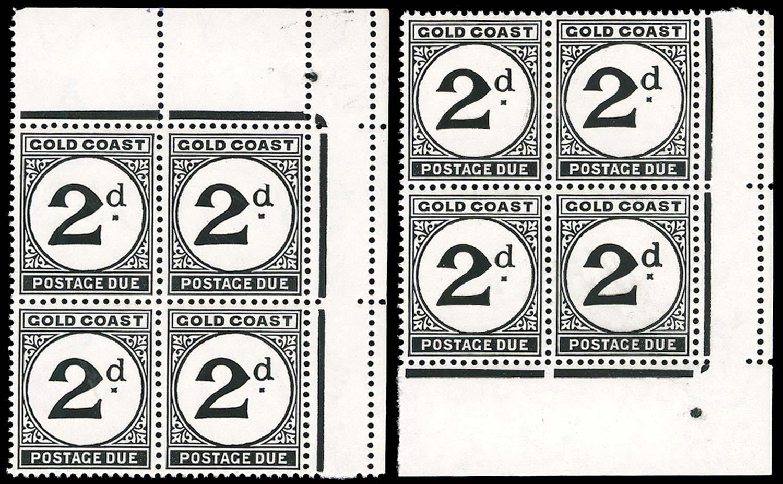 GOLD COAST 1951  SGD5/c/d Postage Due
