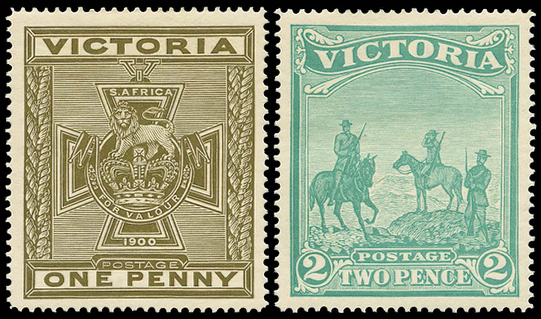 VICTORIA (AUS) 1900  SG374/5 Mint Anglo-Boer War Patriotic Fund pair