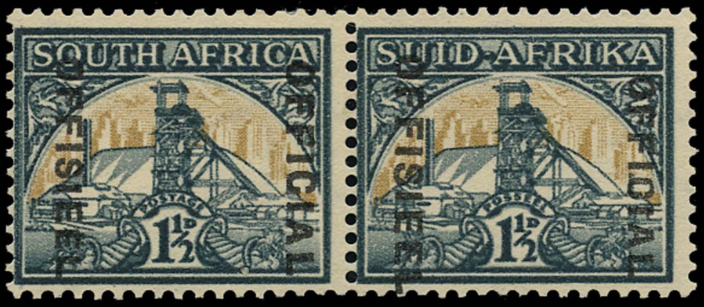 SOUTH AFRICA 1944  SGO33a var Official