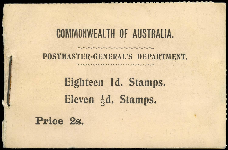 VICTORIA (AUS) 1910  SGSB3 Booklet