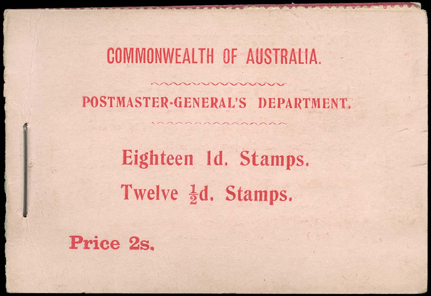VICTORIA (AUS) 1911  SGSB4 Booklet