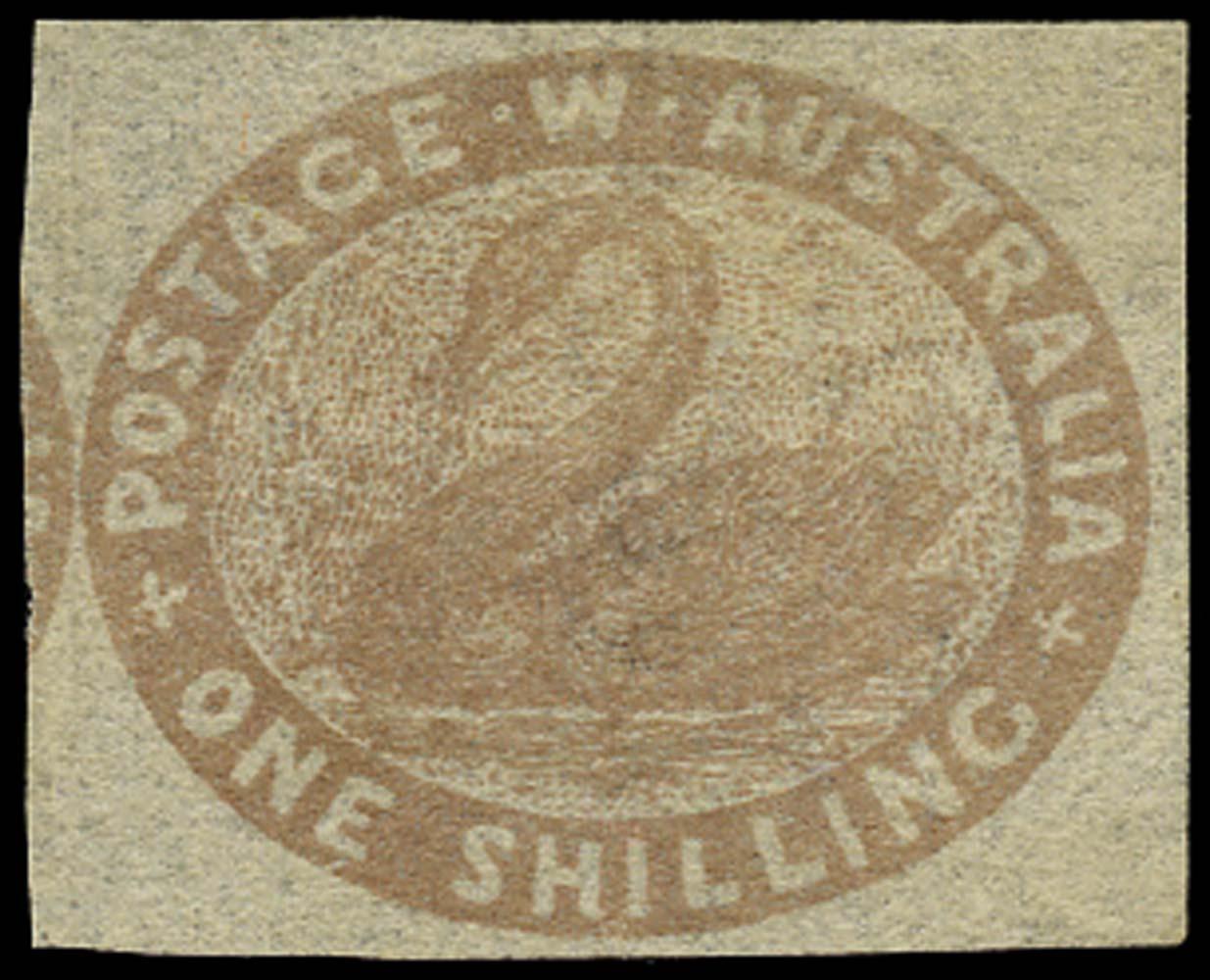 WESTERN AUSTRALIA 1854  SG4c Mint