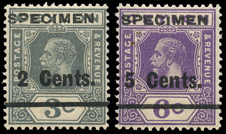 CEYLON 1926  SG361s/2s Specimen