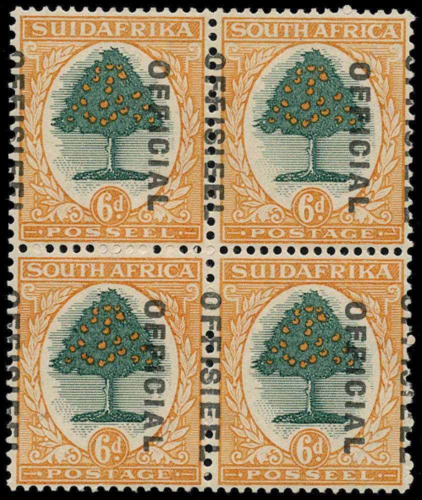 SOUTH AFRICA 1930  SGO16var Official