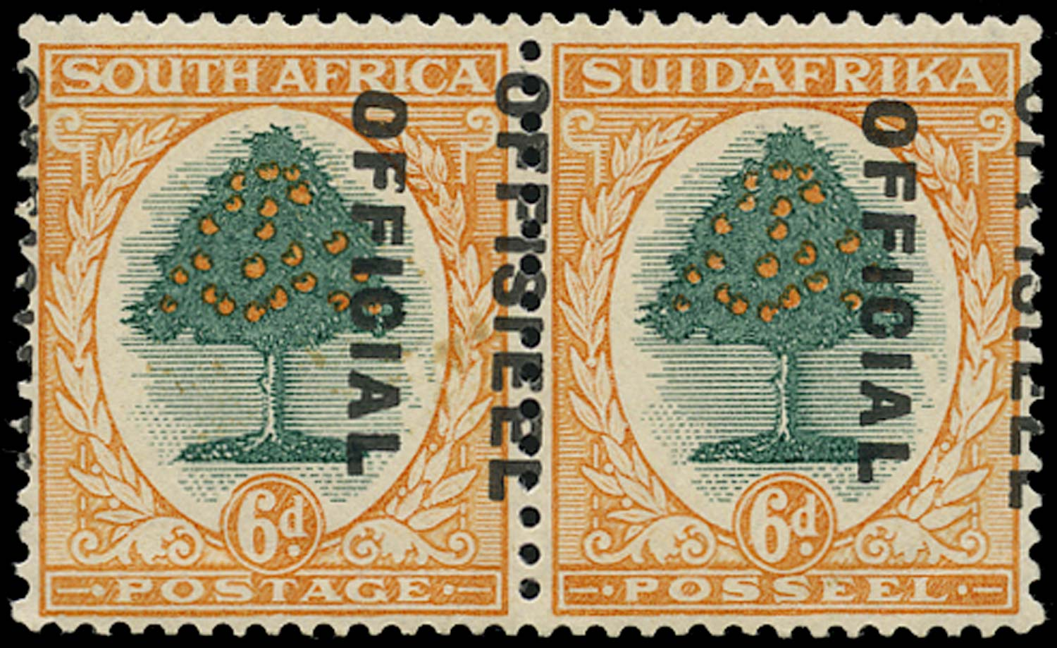 SOUTH AFRICA 1930  SGO16var Official