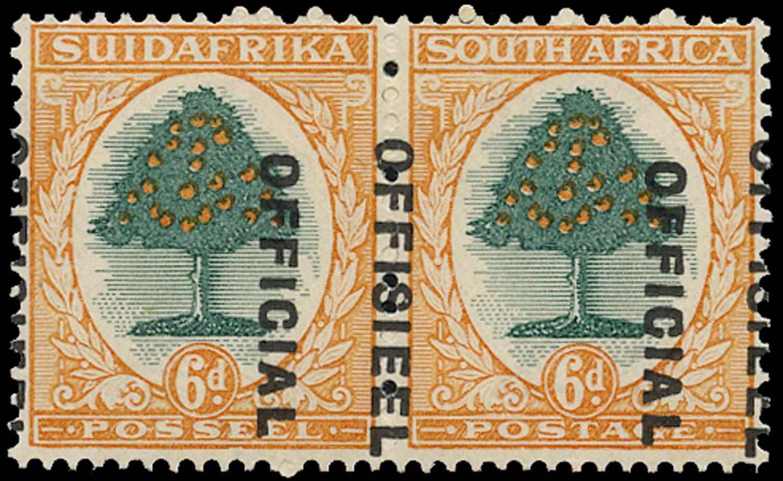 SOUTH AFRICA 1930  SGO16a var Official