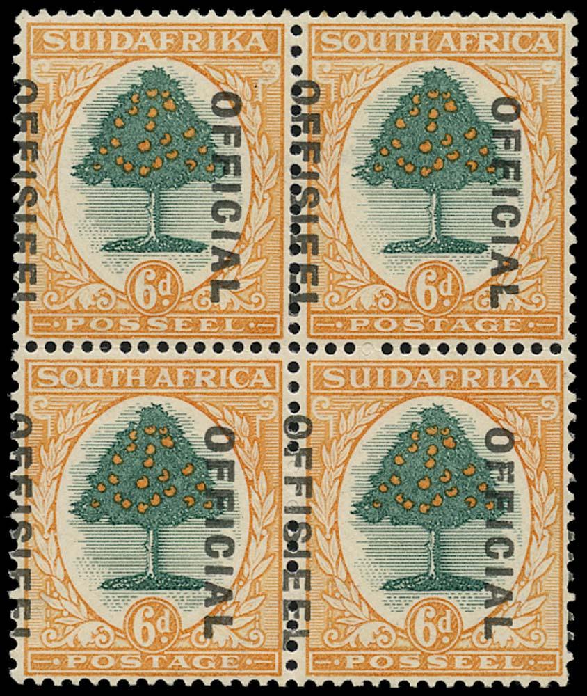 SOUTH AFRICA 1930  SGO16 var Official