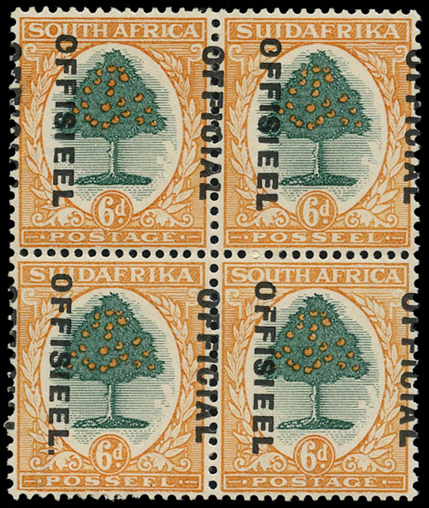 SOUTH AFRICA 1930  SGO16/b var Official