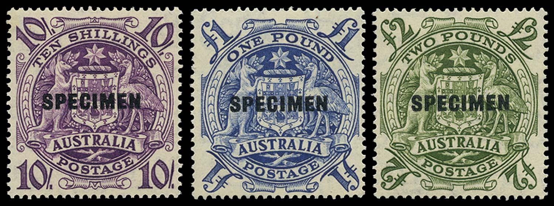 AUSTRALIA 1949-50  SG224bs/ds Specimen