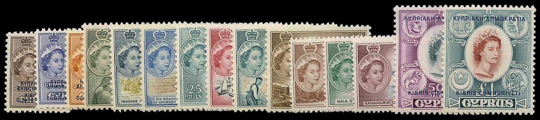 CYPRUS 1960  SG188/202 Mint