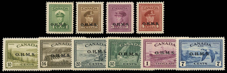 CANADA 1949  SGO162/71 Official