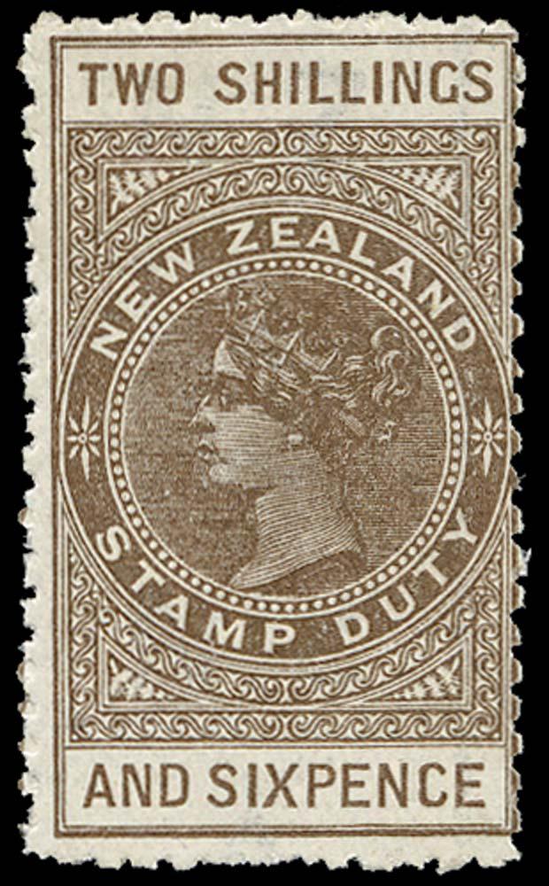 NEW ZEALAND 1895  SGF57 Postal Fiscal