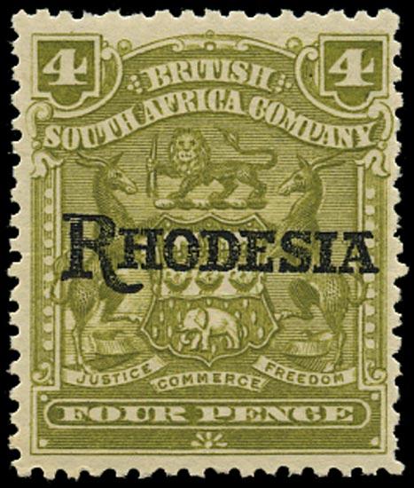 RHODESIA 1909  SG105a Mint