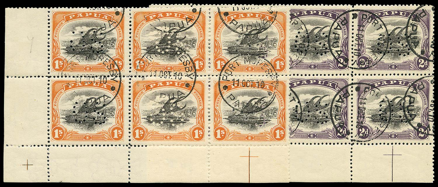 PAPUA 1908  SGO23, 26 vars Official