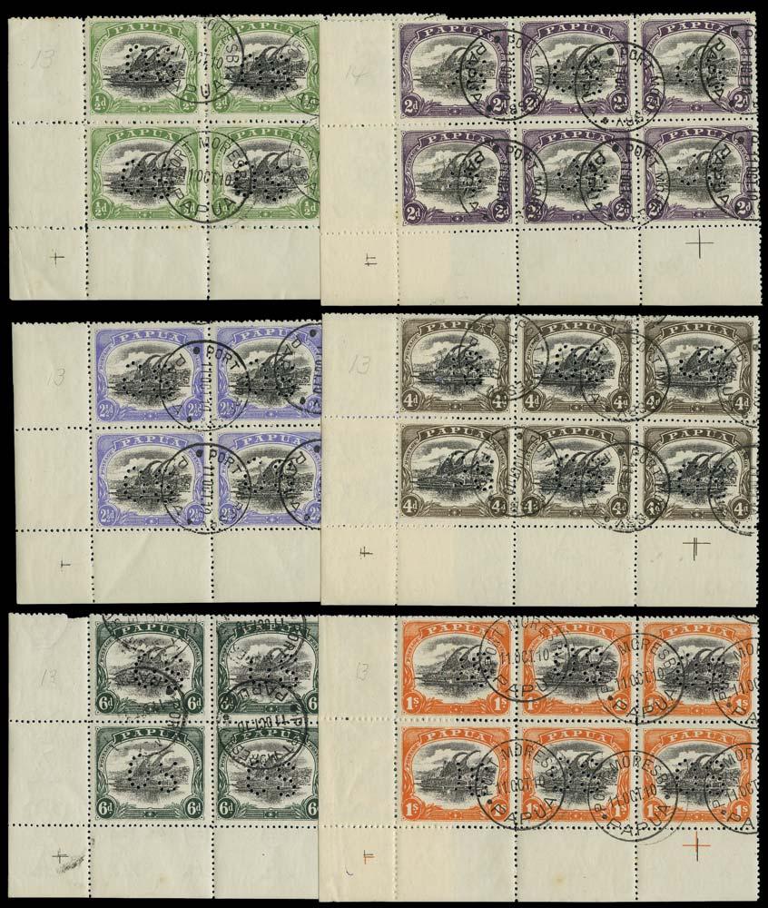 PAPUA 1910  SGO29, 31/5 Official