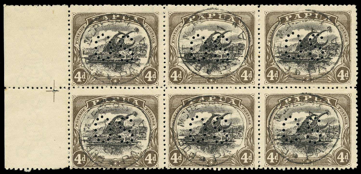 PAPUA 1910  SGO33/a Official
