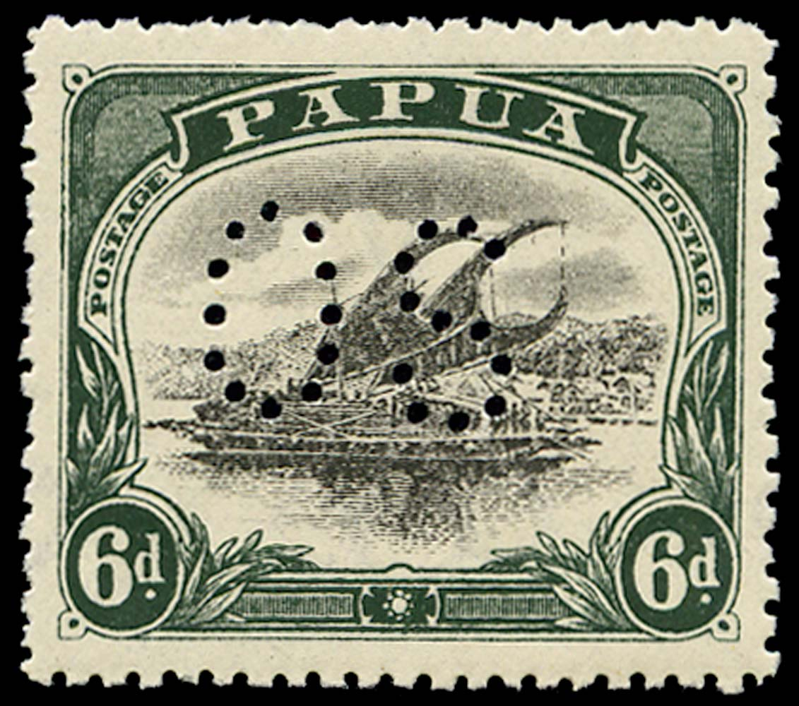 PAPUA 1910  SGO34 Official